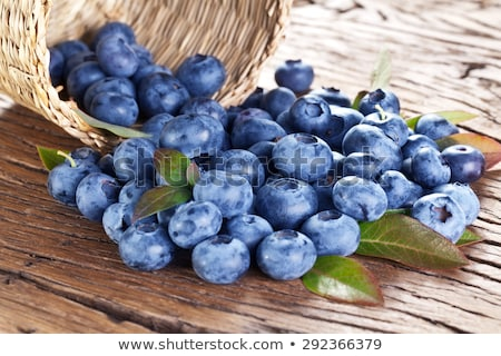 Blueberries on wooden table, macro Stock photo © stevanovicigor