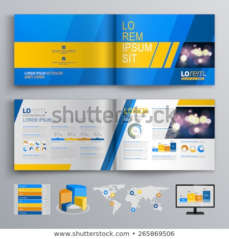 A blue and yellow infochart Stock photo © bluering