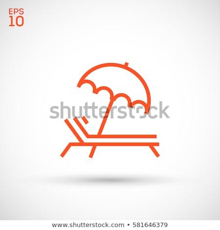 guarda-sol · ícone · vetor · imagem · objeto · linha - foto stock © angelp