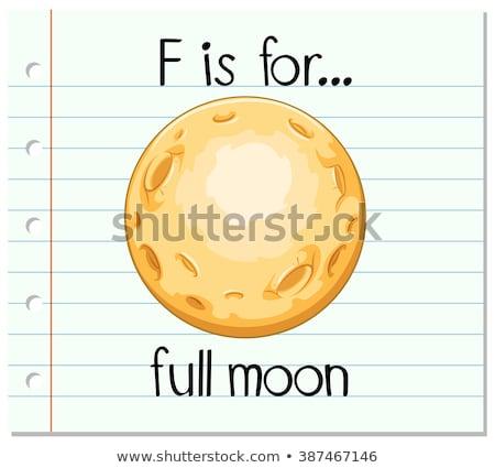 Volle maan illustratie maan achtergrond kunst Stockfoto © bluering