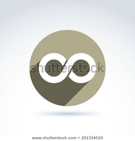 Infinito icono simple matemático signo aislado Foto stock © ESSL