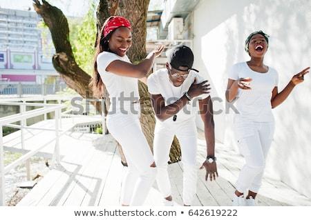 ragazzi · strada · dance · scena · illustrazione · musica - foto d'archivio © bluering