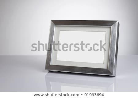 Photo frame tabela mesa de madeira textura madeira fundo Foto stock © fuzzbones0