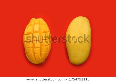 Lezzetli sarı mango soyulmuş kesmek kareler Stok fotoğraf © photohome