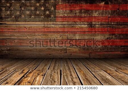 США флаг древесины звезды диаграммы Сток-фото © zapomicron