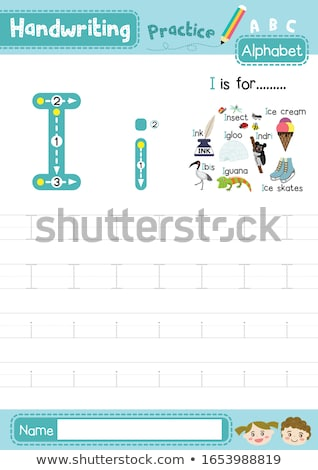 Flashcard letter I is for ice cream Stock photo © bluering