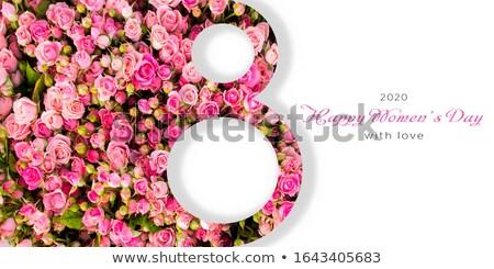 Acht rozen goud rode rozen Rood bloem Stockfoto © blackmoon979