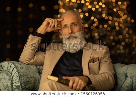 Elderly confident relaxed stylish man in a suit Stock photo © ozgur