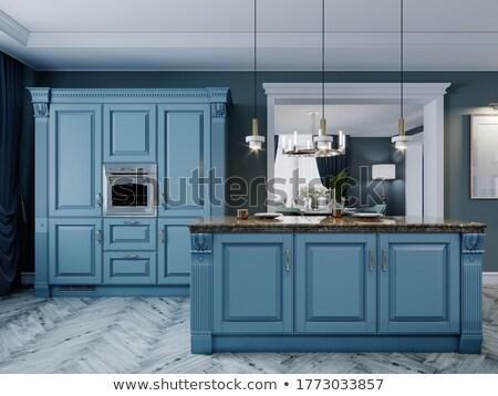 Blue stool Stock photo © ivonnewierink