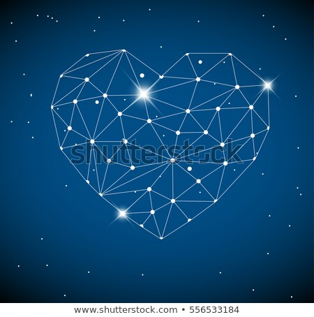 Heart made from triangles as constellation Stock photo © orson
