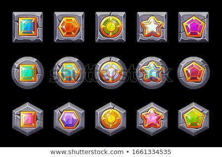 Rood · kristal · steen · juweel · vector · icon - stockfoto © glorcza