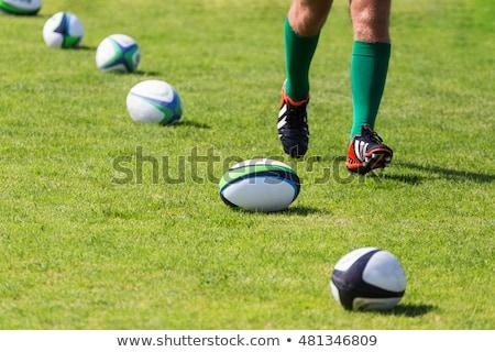 регби игрок работает мяч для регби белый стороны Сток-фото © wavebreak_media