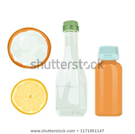 ácido branco pó preto comida limão Foto stock © m_pavlov