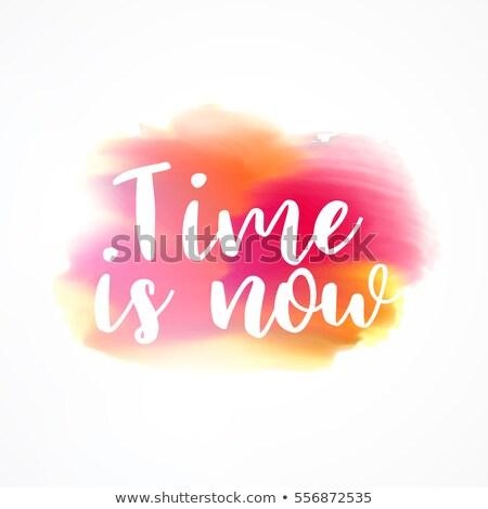 時間 · 今 · 明るい · 赤 · 1 - ストックフォト © sarts
