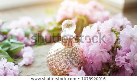 Arabski kobieta butelki perfum odizolowany biały Zdjęcia stock © Elnur