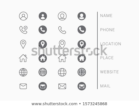 set of business cards stock photo © swillskill