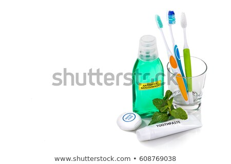 Oral care products on a white background Stock photo © Zerbor