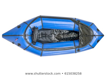 blue packraft isolated - top view Stock photo © PixelsAway