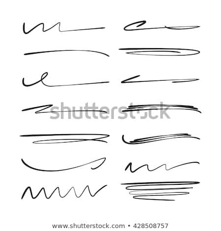 Grunge Ink pen Stroke set Stock photo © Mamziolzi
