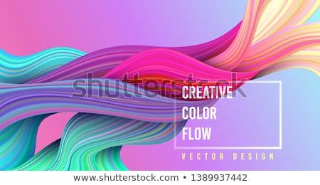 Mavi soyut renkli akrilik boyama Stok fotoğraf © FOTOYOU