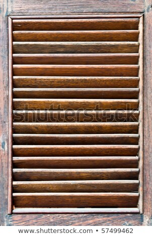Blauw · houten · venster · oude · steen - stockfoto © smuki