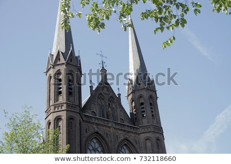 Basílica cristo crucifixo vitrais igreja holandês Foto stock © billperry