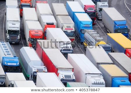 Korku ciężarówki czeka jam śniegu tunelu Zdjęcia stock © Hofmeester