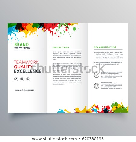 Renkli mürekkep sıçramak broşür dizayn iş Stok fotoğraf © SArts