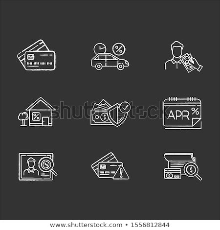 insurance concept doodle icons on chalkboard stock photo © tashatuvango