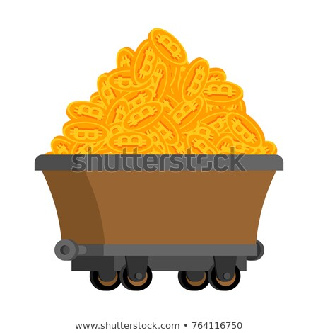 mining trolley with cryptocurrency bitcoin Stock photo © studiostoks