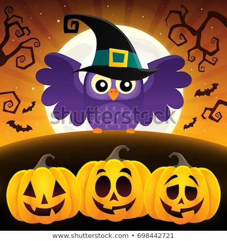 halloween image with owls theme 2 stock photo © clairev