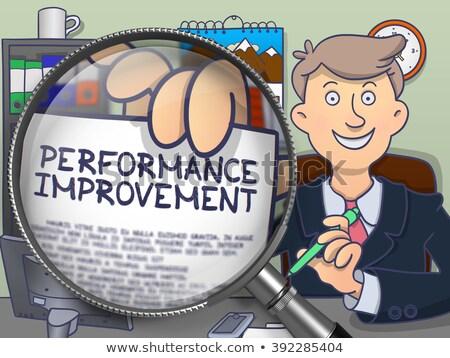 improve efficiency through magnifying glass doodle style stock photo © tashatuvango