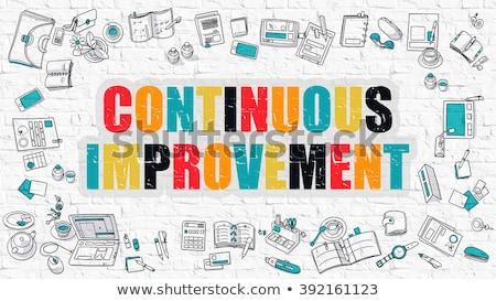 Continuous Improvement Concept. Multicolor on White Brickwall. Stock photo © tashatuvango