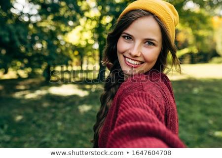 красивой блондинка женщину счастливым тело Сток-фото © wavebreak_media