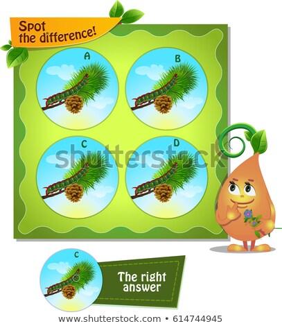 Oruga ataviar diferencia juego ninos tarea Foto stock © Olena