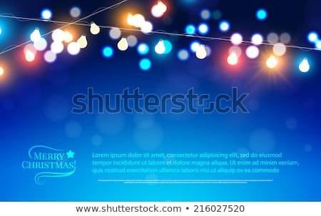 arte · Navidad · vacaciones · luz · nieve · azul - foto stock © konstanttin