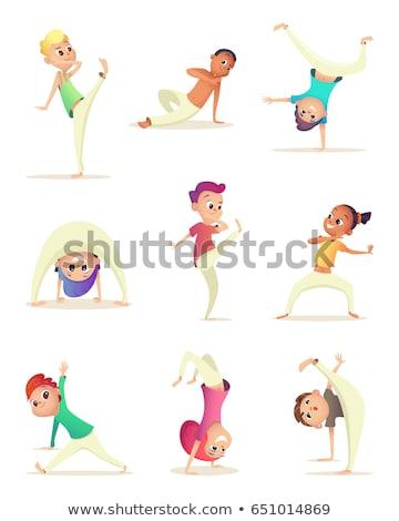 Mensen verschillend vechtsporten illustratie sport achtergrond Stockfoto © bluering