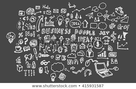 hand drawn analysis on office chalkboard stock photo © tashatuvango