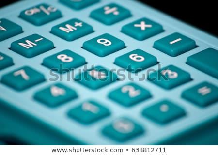 Mba - Blue Button of Keypad. Stock photo © tashatuvango