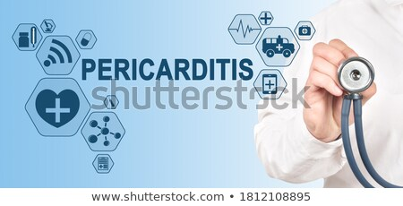 диагностика медицинской напечатанный синий таблетки шприц Сток-фото © tashatuvango