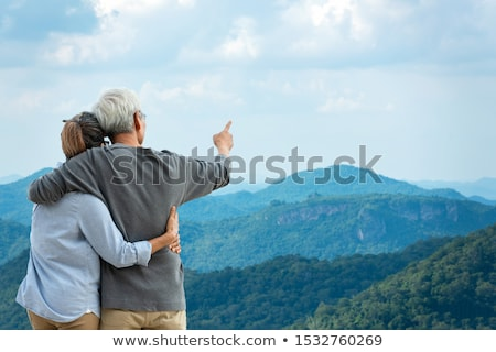 senior couple in mountains Stock photo © IS2