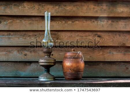 Lamp web schuur oude plafond Stockfoto © Kotenko