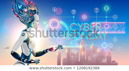 Beautiful woman robot promoter Stock photo © studiostoks