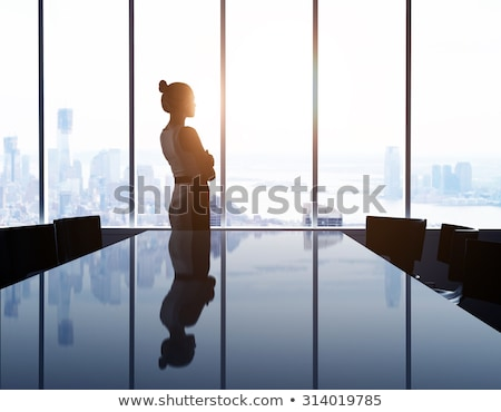 деловой женщины глядя из окна бизнеса женщину Сток-фото © IS2
