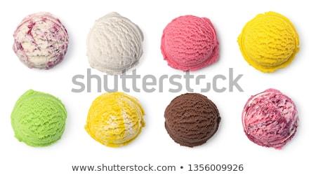 マンゴー アイスクリーム スクープ 暗い 石 氷 ストックフォト © BarbaraNeveu