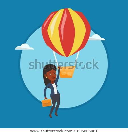 vector · caliente · globo · vintage · aire · objeto - foto stock © rastudio