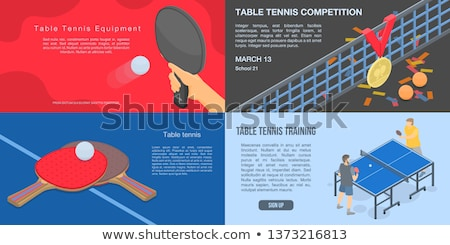 Vrouwelijke atleet spelen ping pong zwarte lichaam Stockfoto © wavebreak_media