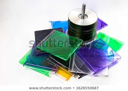Płyta cd działalności biurko danych plastikowe pojemnik Zdjęcia stock © IS2