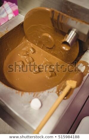 Közelkép mályvacukor csokoládé gép konyha üzlet Stock fotó © wavebreak_media