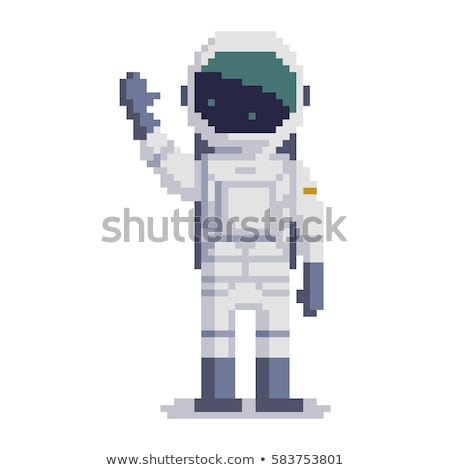 Toprak uzay boşluğu piksel sanat soyut örnek Stok fotoğraf © lenm